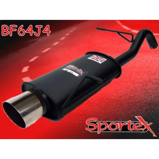 Sportex Ford Fiesta exhaust back box 1.25i 1.4i 2008-2012 J4