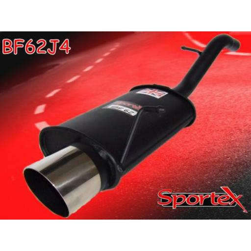 Sportex Ford Fiesta exhaust back box 1.25i, 1.3i, 1.4i 2002-2008 J4