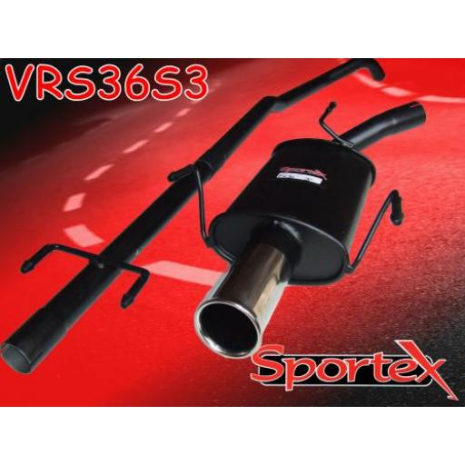 Sportex Vauxhall Corsa C performance exhaust system 2000-2006 S3