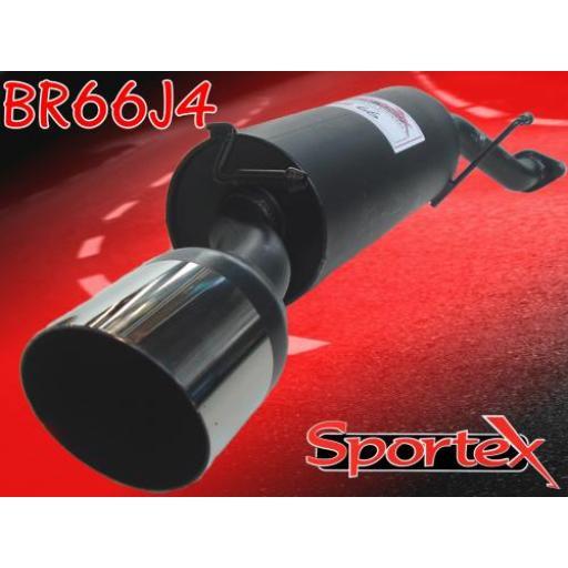 Sportex MG ZS exhaust back box 1.8i saloon 2001-2005 J4