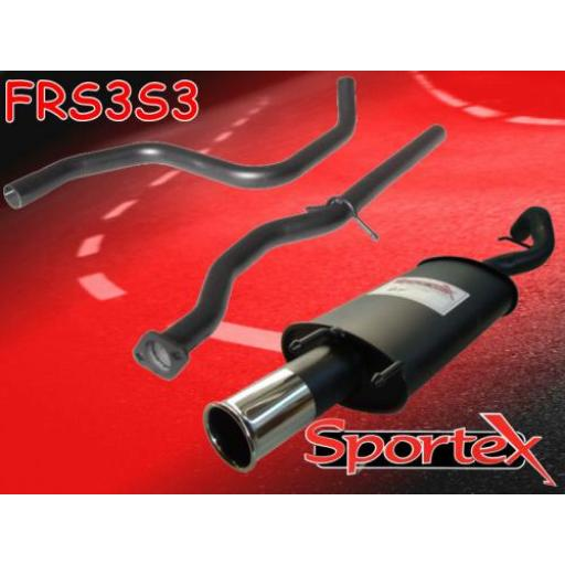 Sportex Ford Escort performance exhaust system 1.8i Si GTi 97-99 S3