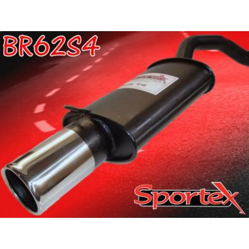 Sportex Rover 200 exhaust back box 1989-1996 S4