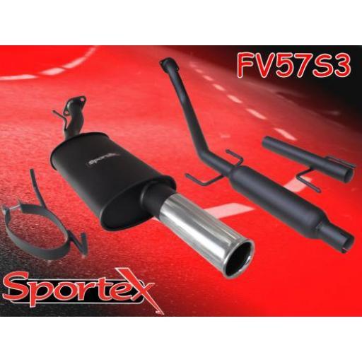 Sportex Vauxhall Astra mk4 performance exhaust system 2000-2004 S3