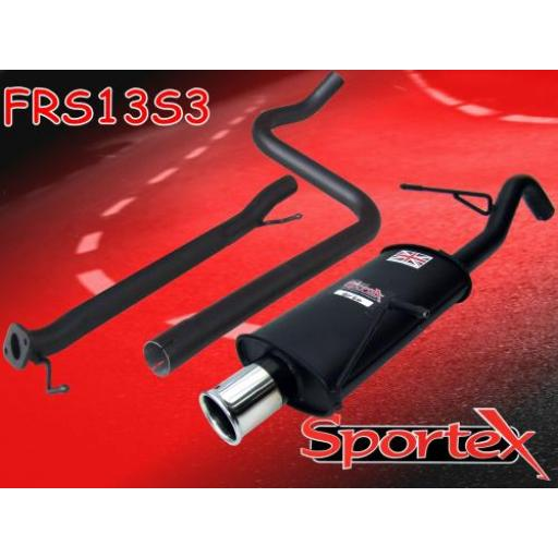 Sportex Ford Fiesta mk7 race tube exhaust system 1.6i 2009-2012 S3