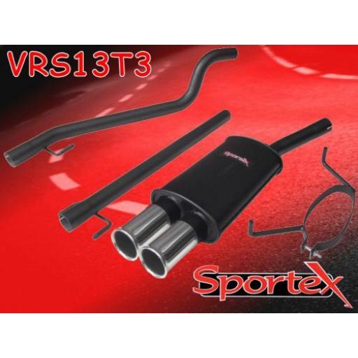 Sportex Vauxhall Astra mk5 performance exhaust system 2005- T3
