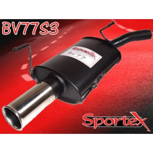 Sportex Vauxhall Corsa C exhaust back box 2000-2006 S3