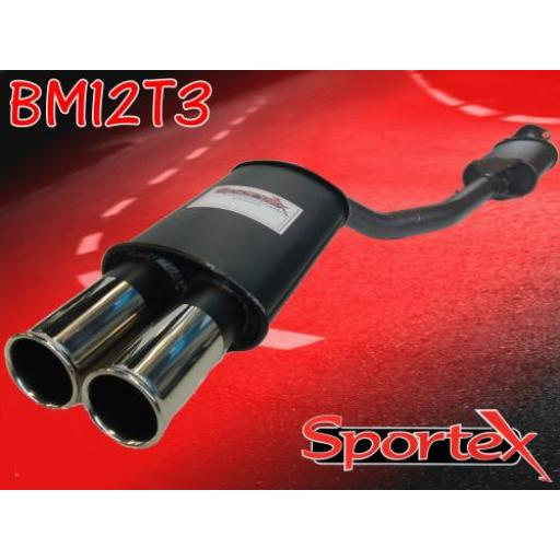 Sportex BMW 3 series exhaust back box 318iS 1992-1998 T3