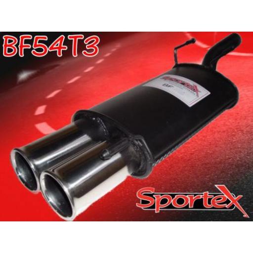 Sportex Ford Fiesta exhaust back box 1.4i 1996-2002 T3