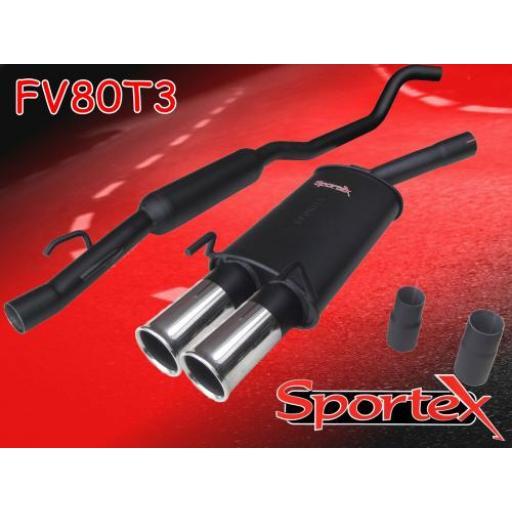 Sportex Vauxhall Corsa B performance exhaust system 1993-2000 T3
