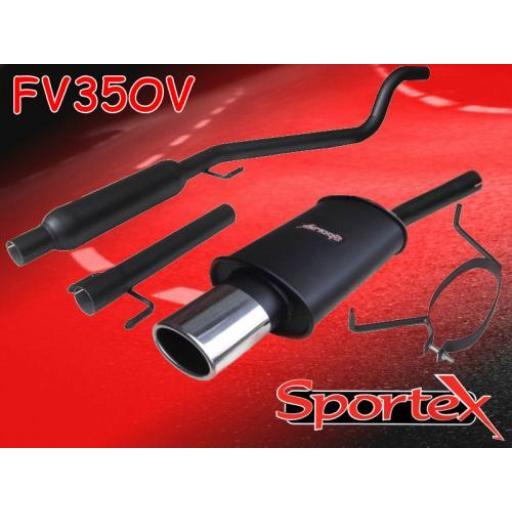 Sportex Vauxhall Astra mk5 performance exhaust system 2005- OV