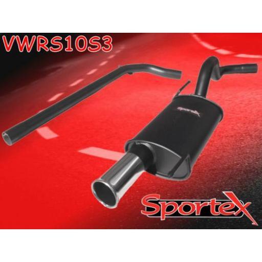 Sportex VW Polo performance exhaust system 1996-2000 S3