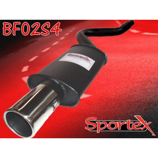 Sportex Fiat Cinquecento exhaust back box 1100cc 1992-1998 S4