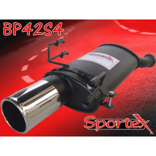 Sportex Peugeot 306 exhaust back box 1993-2002 S4