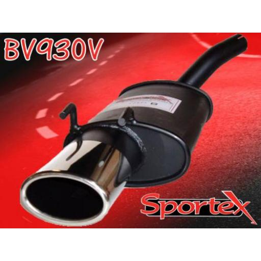 Sportex Vauxhall Corsa B exhaust back box 1.0i 1997-2000 OV