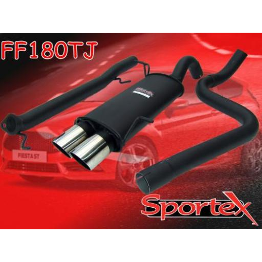 Sportex Ford Fiesta ST180 performance exhaust system 2013-2016 TJ