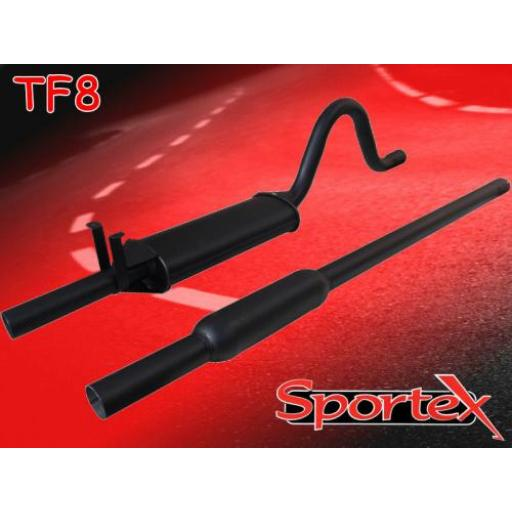 Sportex Ford Escort OHC twin box exhaust system 1968-1981 (2 dia)