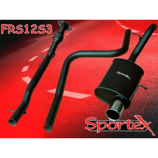 Sportex Ford Fiesta performance exhaust system 1.6i 2001-2008 S3