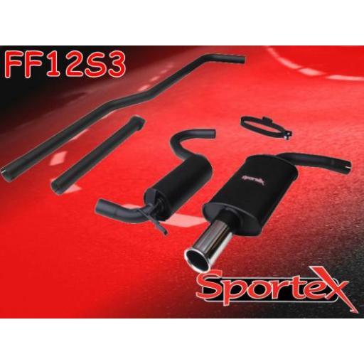 Sportex Ford Escort performance exhaust system mk3/4 1980-1990 S3