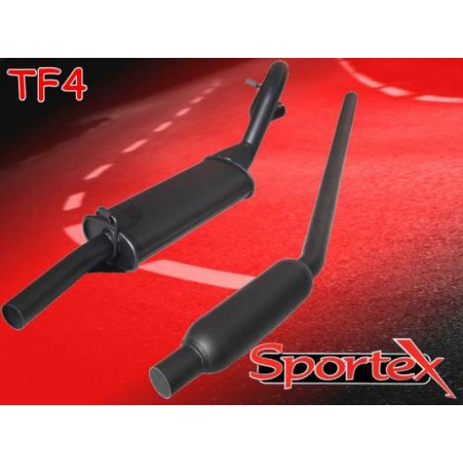 Sportex Ford Escort OHV twin box exhaust system 1968-1981 (2 dia)