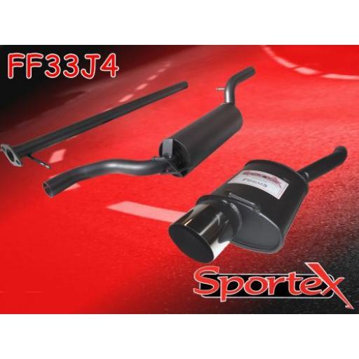Sportex Ford Focus performance exhaust system 1.8i 2.0i 1998-2004 J4