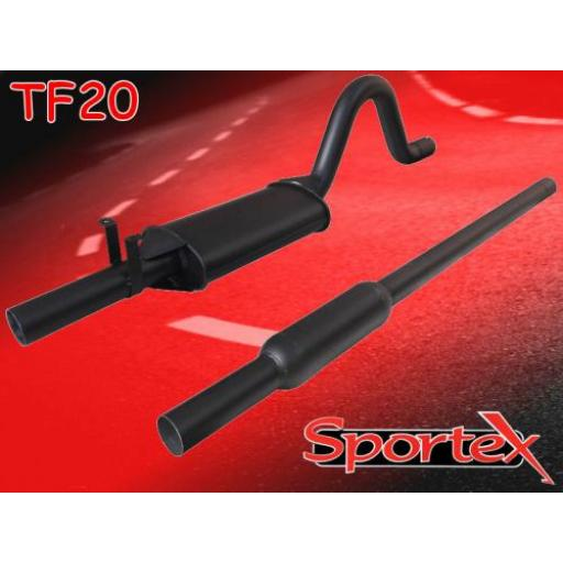 Sportex Ford Escort OHC twin box exhaust system 1968-1981 (2.5 dia)
