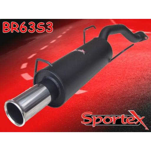Sportex Rover 220i exhaust back box GTi, GSi coupe 1992-1996 S3