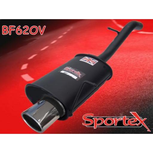 Sportex Ford Fiesta exhaust back box 1.25i, 1.3i, 1.4i 2002-2008 OV