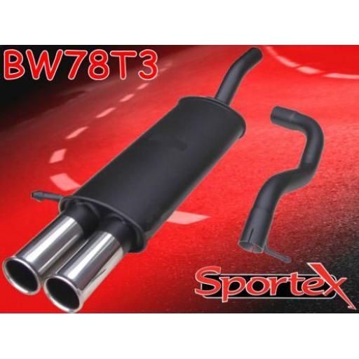 Sportex VW Golf mk4 2.0i GTi APK, AQY exhaust back box 1999-2001 T3