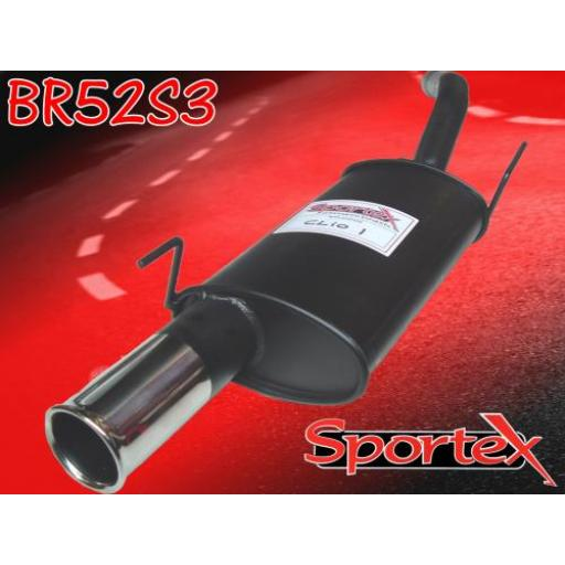 Sportex Renault Clio mk1 exhaust back box 1991-1998 S3
