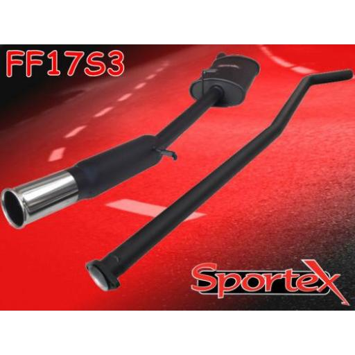 Sportex Ford Fiesta performance exhaust system 1.6 XR2 1984-1989 S3