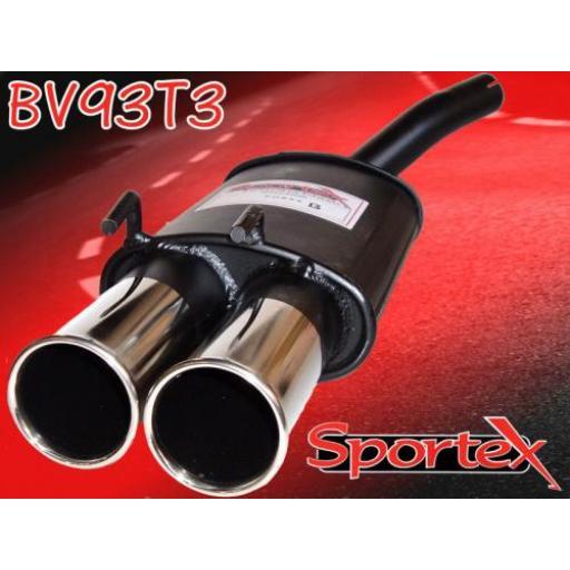 Sportex Vauxhall Corsa B exhaust back box 1.0i 1997-2000 T3