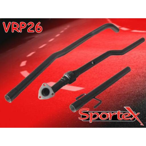 Sportex Vauxhall Corsa C exhaust race tube 2003-2006