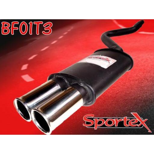 Sportex Fiat Cinquecento exhaust back box 900cc 1992-1998 T3