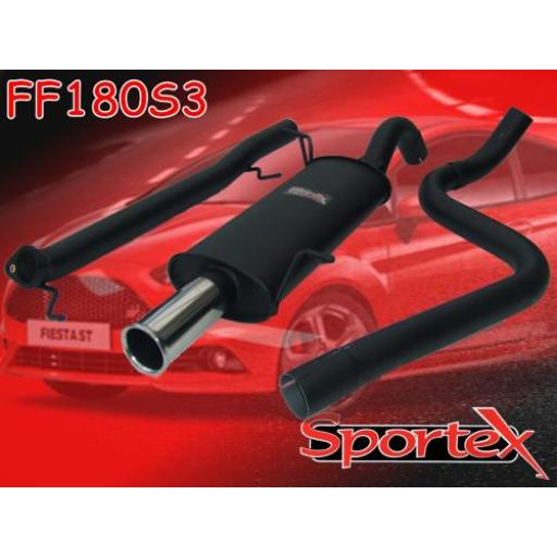 Sportex Ford Fiesta ST180 performance exhaust system 2013-2016 S3