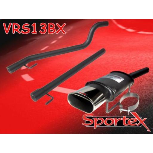 Sportex Vauxhall Astra mk5 performance exhaust system 2005- BX