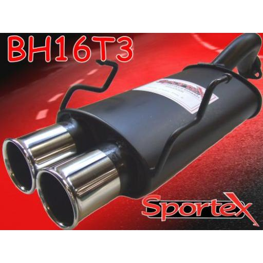 Sportex Honda Civic exhaust back box hatch 2001-2006 T3