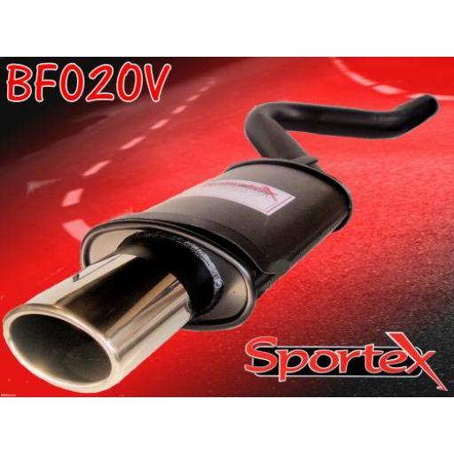 Sportex Fiat Cinquecento exhaust back box 1100cc 1992-1998 OV