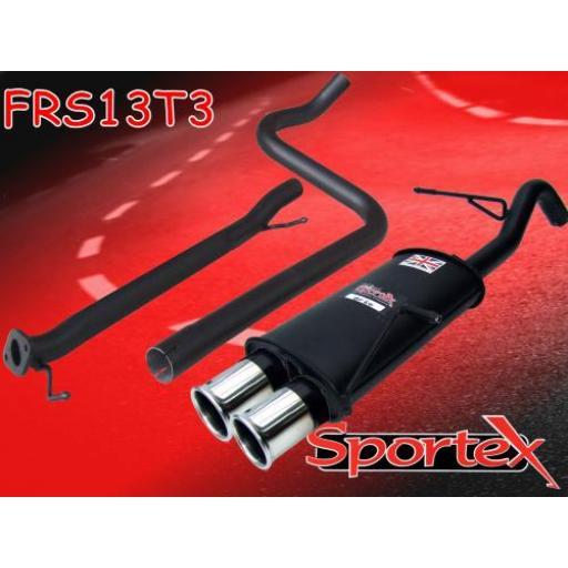 Sportex Ford Fiesta mk7 race tube exhaust system 1.6i 2009-2012 T3