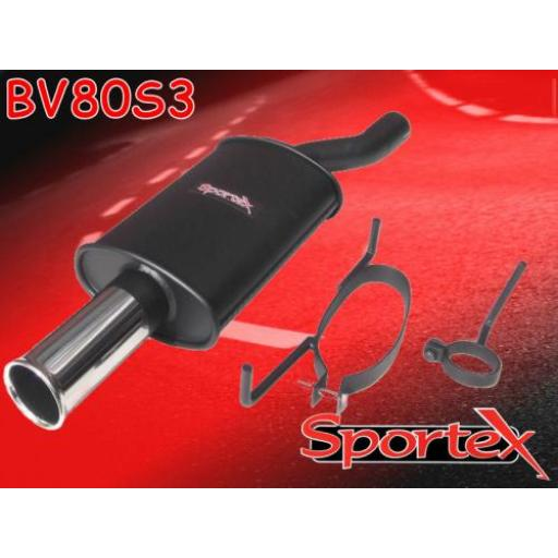 Sportex Vauxhall Astra exhaust back box 1996-1998 S3
