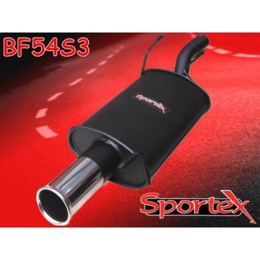 Sportex Ford Fiesta exhaust back box 1.4i 1996-2002 S3