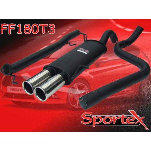 Sportex Ford Fiesta ST180 performance exhaust system 2013-2016 T3