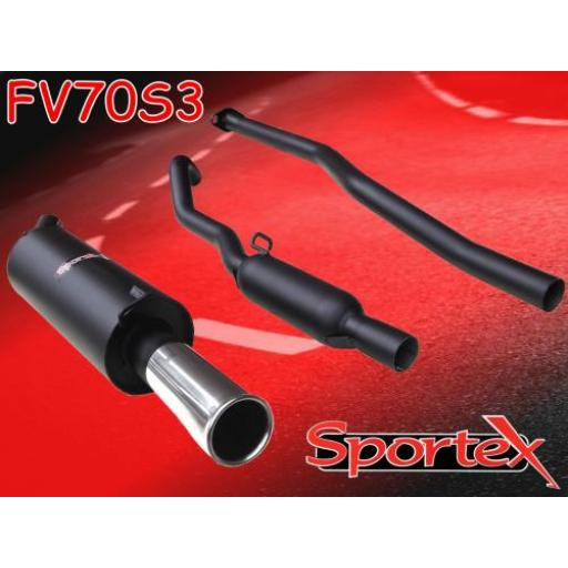 Sportex Vauxhall Nova performance exhaust system 1983-1992 S3