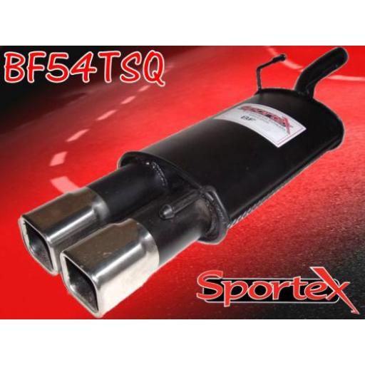 Sportex Ford Fiesta exhaust back box 1.4i 1996-2002 TSQ
