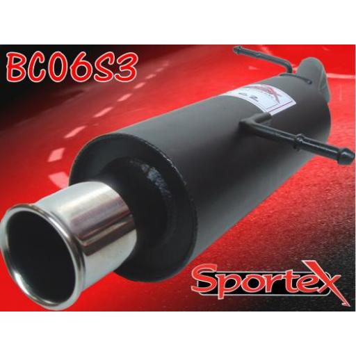 Sportex Citroen C2 performance exhaust back box 1.1i 2003- S3