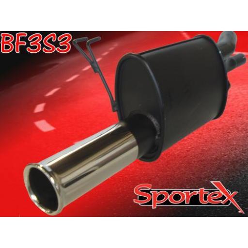 Sportex Fiat Punto exhaust back box 1999-2004 S3