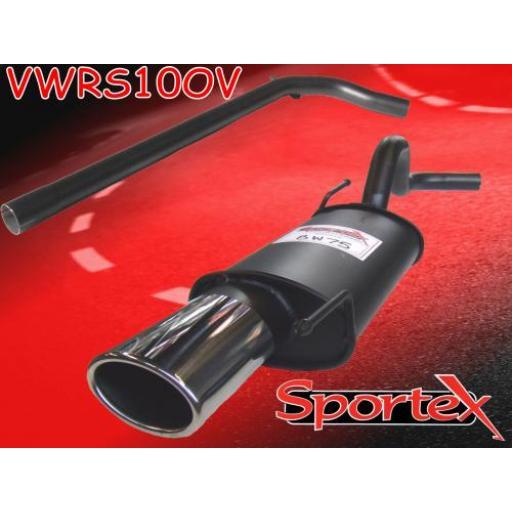 Sportex VW Polo performance exhaust system 1996-2000 OV