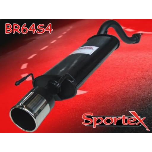Sportex Rover 25 exhaust back box 1999-2005 S4
