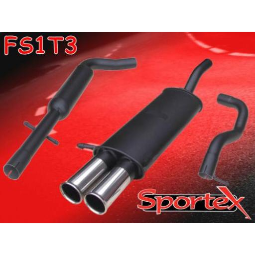 Sportex Seat Leon 1.8T performance exhaust system 2000-2005 T3