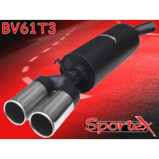 Sportex Vauxhall Calibra exhaust back box 2.0i 8v 1990-1996 T3