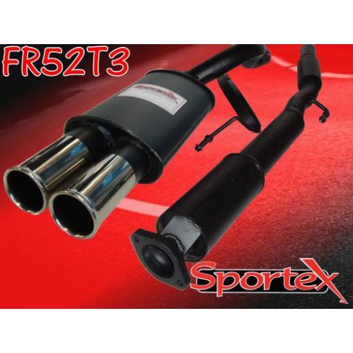 Sportex Renault Clio exhaust system 2.0i 172 Sport T3